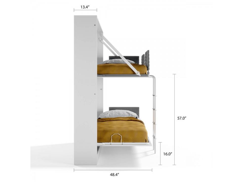 Pensiero Twin Wall Bunk Bed