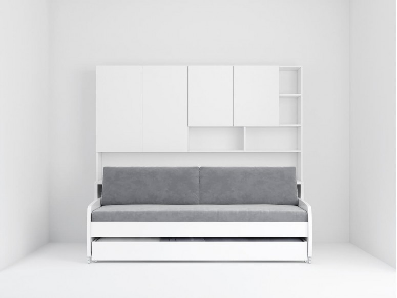 Eco Compact Twin/Twin XL Sofa Bed and Cabinets System