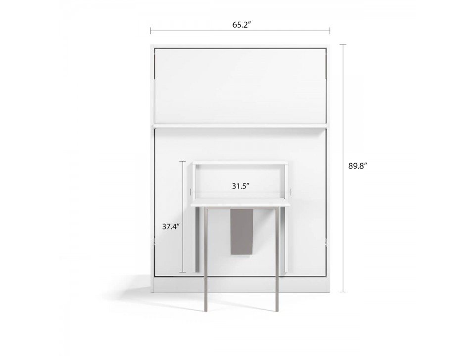 Royal Queen Wall Bed with Folding Table
