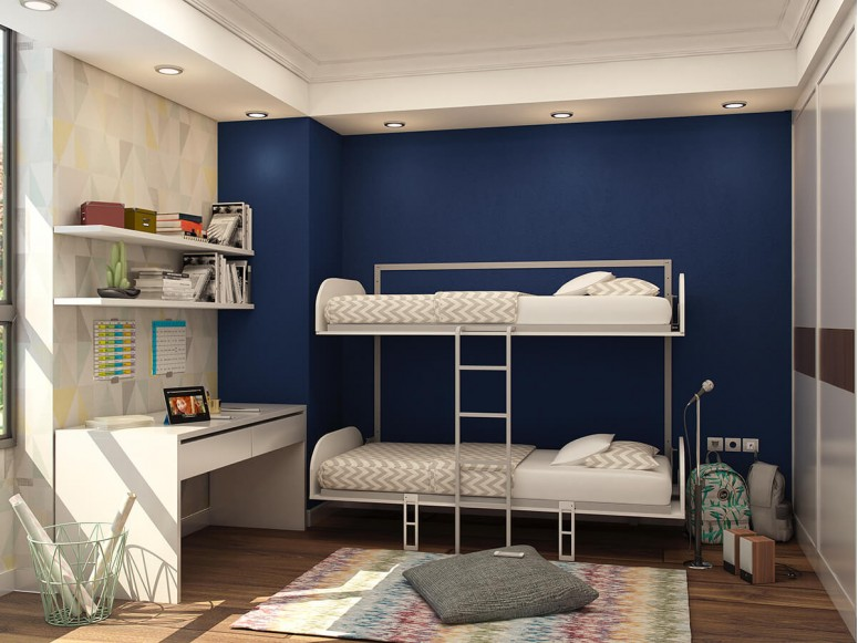 Simple Bunk Twin/Twin XL Murphy Wall Bed