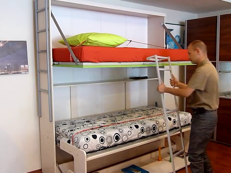 Pensiero Twin Wall Bunk Bed